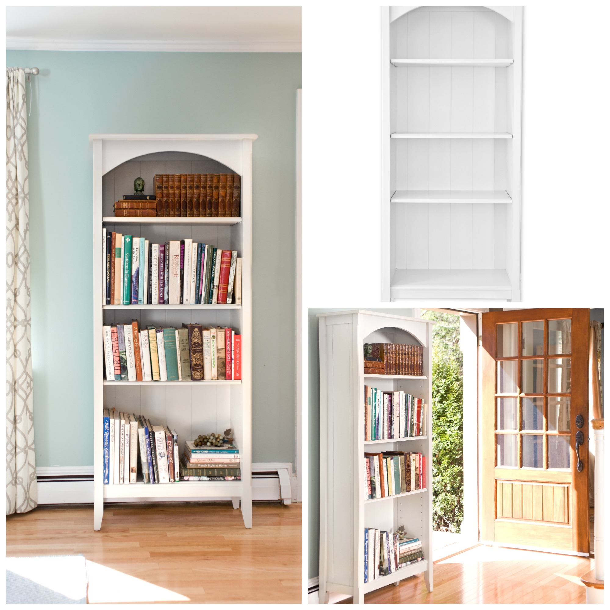 low profile bookcase plans