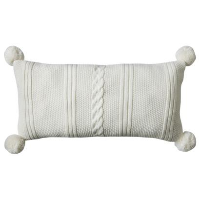 white target pillow