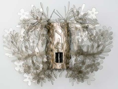 This would be cool in a powder room. Fioella Wall Sconce