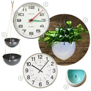 KitchenClockandPlanters