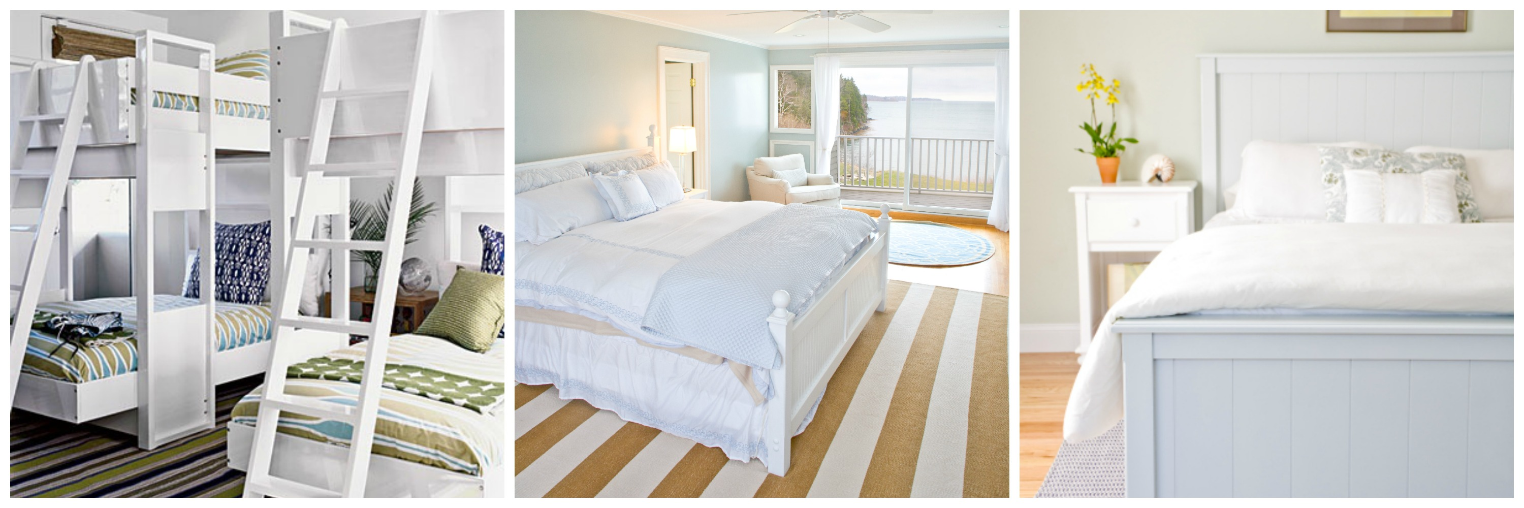 Bedrooms Dressed In White Look So Crisp And Clean I Love This Coastal Living Bunk Room And These Two Coastal Celia Bedilia Bedrooms Are Among My Favorites