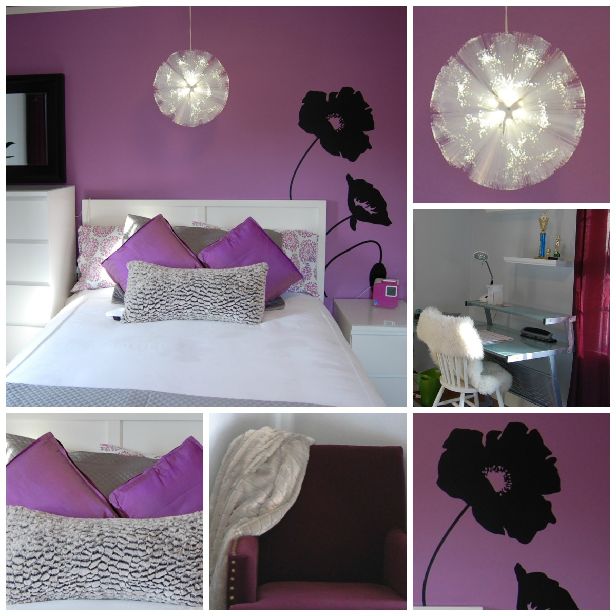 Girls Purple Bedroom Ideas: Budget Friendly Teen Room Design