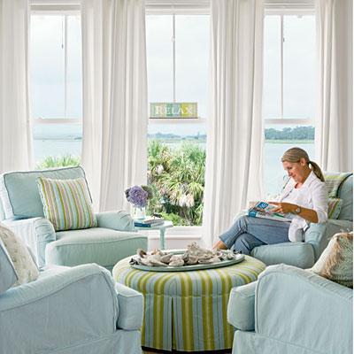 coastal living seating area