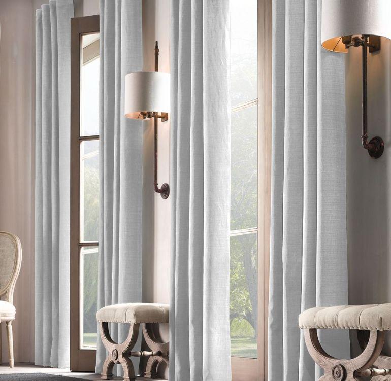 rh linen curtain