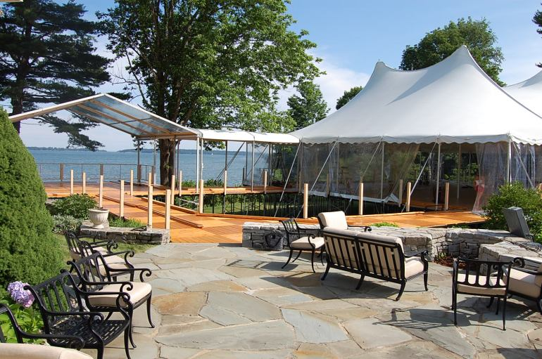 ceremony tent and party tent