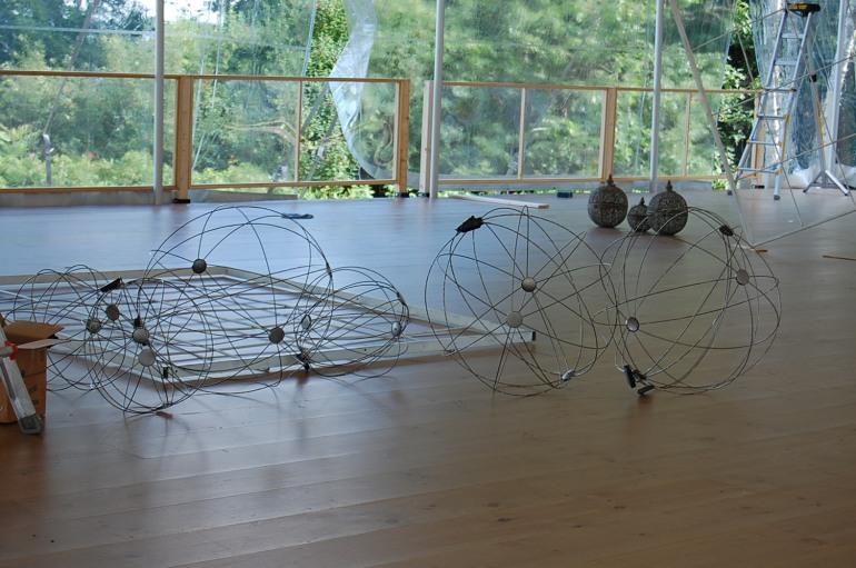 spheres on site
