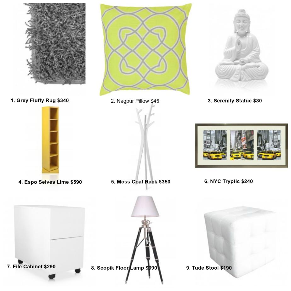 Chic Modern Dorm RoomDesign