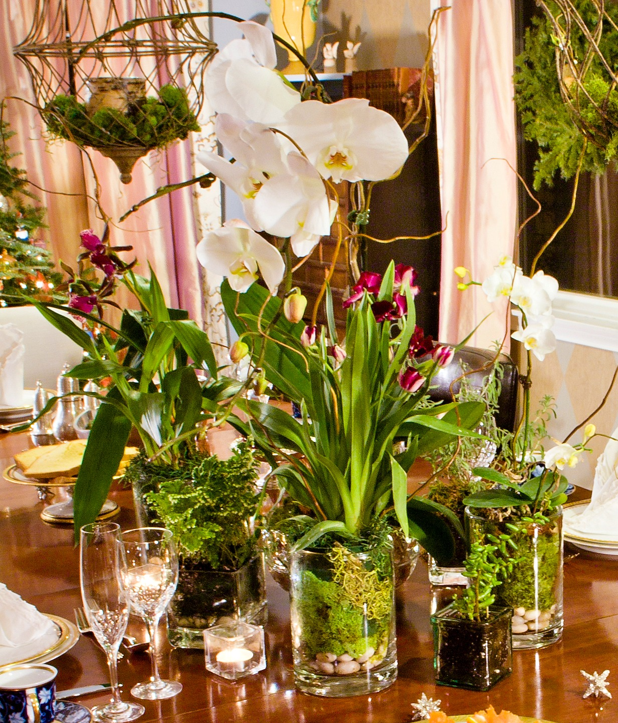 10 easy long lasting thanksgiving centerpieces celia bedilia for Orchid decor