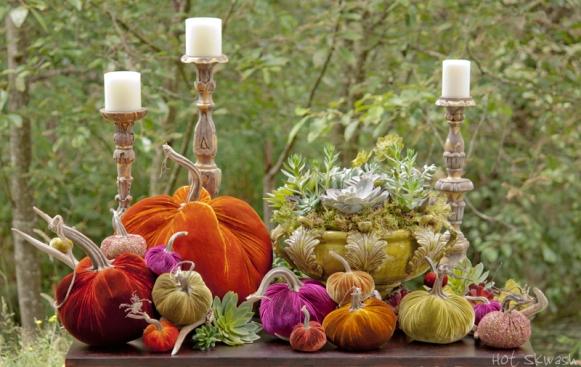 pumpkin table scape
