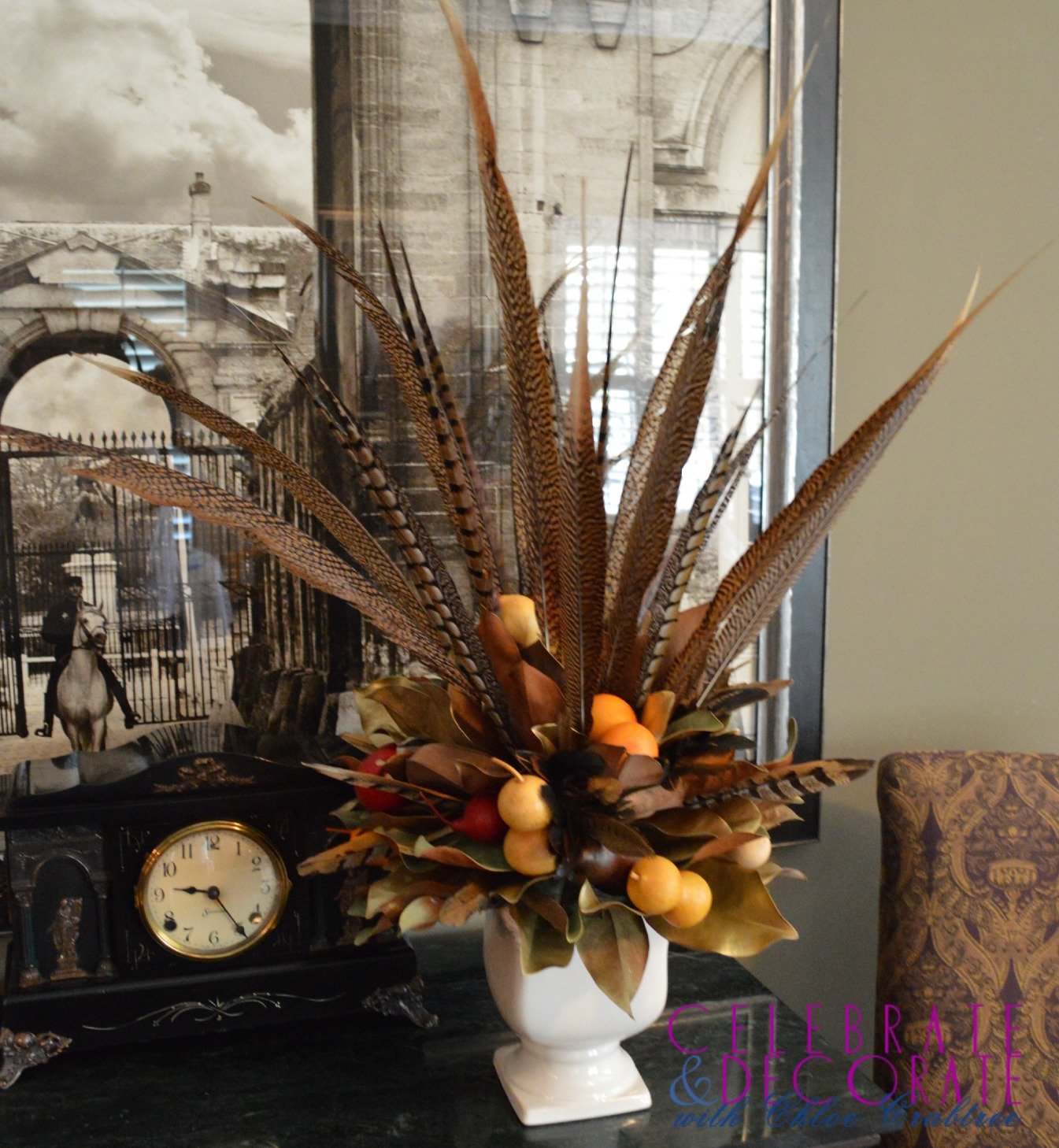 pheasant-feather-arrangement