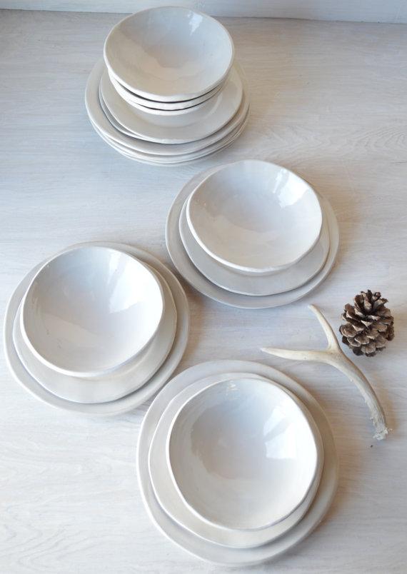 etsy white dishes