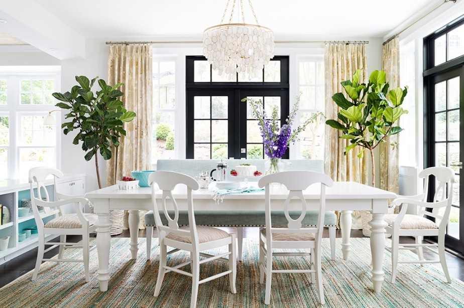 home and design white dining
